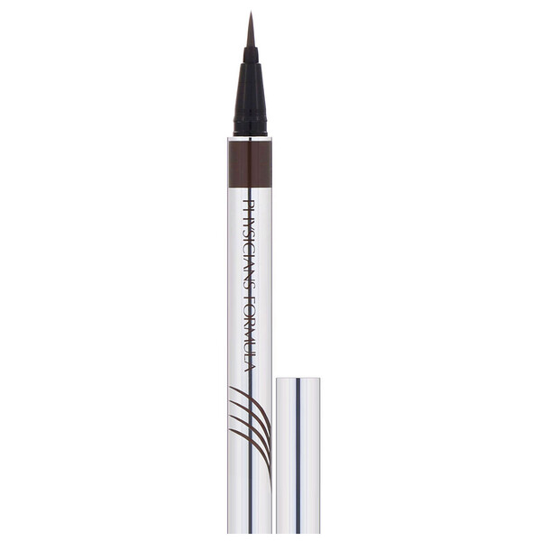 Eye Booster, Ultra Fine Liquid Eyeliner with Lash Conditioning Serum, Deep Brown, 0.016 fl oz (0.5 ml)