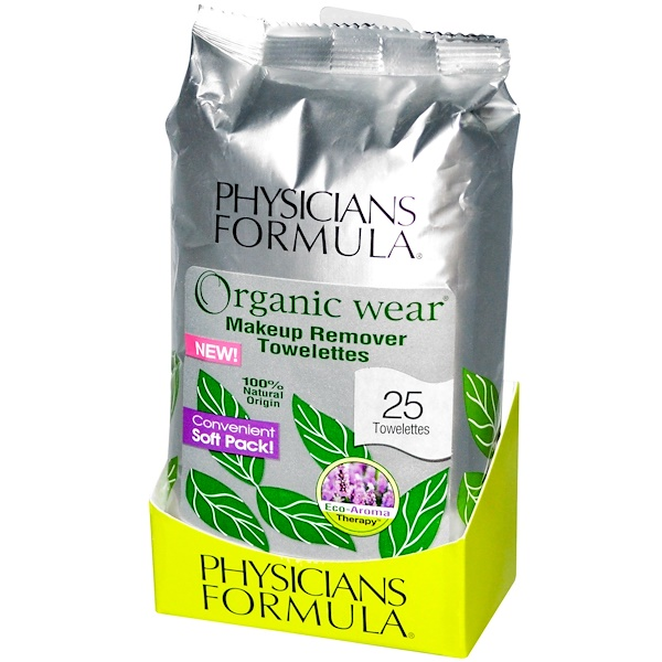 Physician's Formula, Inc., Organic Wear Makeup Remover Towelettes, 25 Towelettes (Discontinued Item)