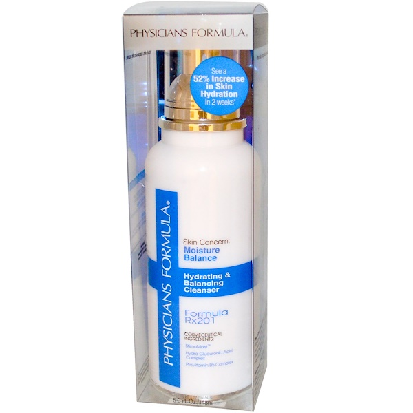 Physicians Formula, Hydrating & Balancing Cleanser, Formula Rx201, 5.0 fl oz (148 ml) (Discontinued Item)
