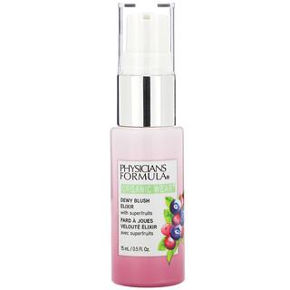 Physicians Formula, Organic Wear, Dewy Blush Elixir, Pink Berry, 0.5 fl oz (15 ml)