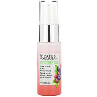 Physicians Formula, Organic Wear, Dewy Blush Elixir, Apricot Glow,  0.5 fl oz (15 ml)