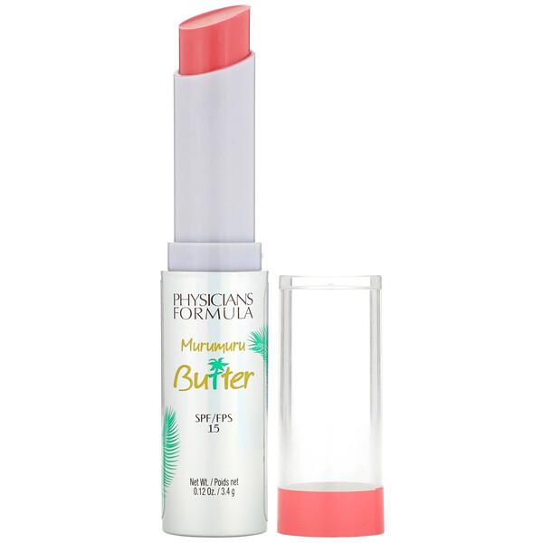 Murumuru Butter Lip Cream, SPF 15, Flamingo Pink, 0.12 oz (3.4 g)