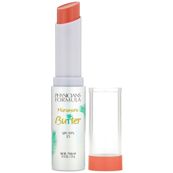 Murumuru Butter Lip Cream, SPF 15, Brazilian Sunset, 0.12 oz (3.4 g)