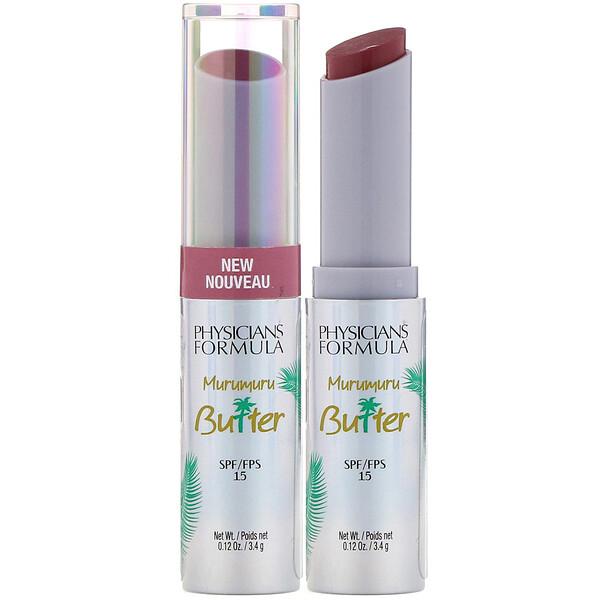 Physicians Formula, Murumuru Butter Lip Cream, SPF 15, Mauvin' to Brazil, 0.12 oz (3.4 g)