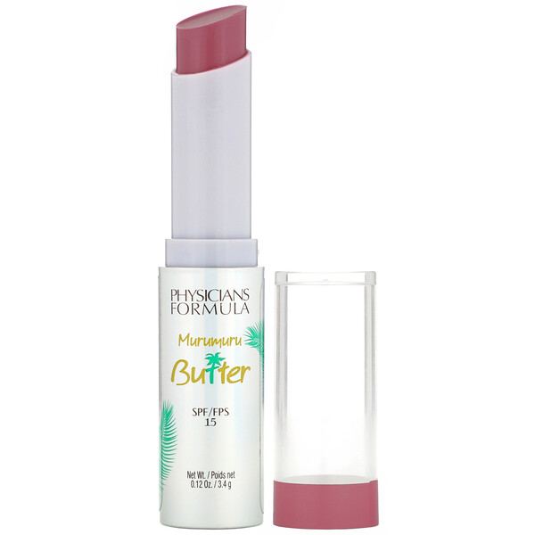 Physicians Formula, Murumuru Butter Lip Cream, SPF 15, Mauvin' to Brazil, 0.12 oz (3.4 g) (Discontinued Item)