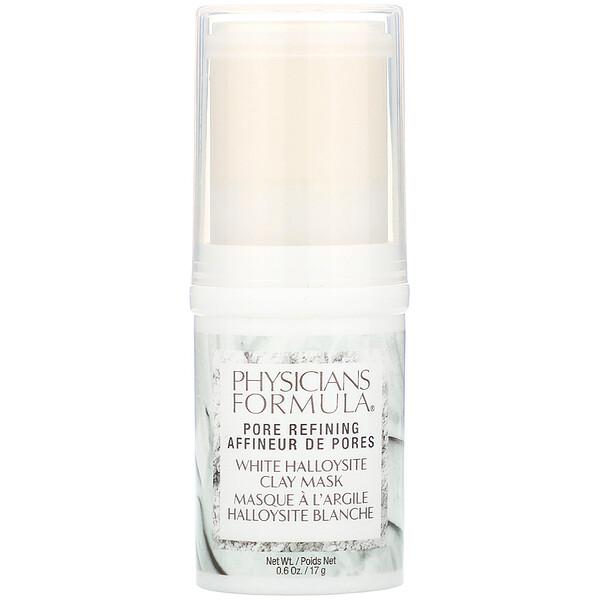 Physicians Formula, White Halloysite Clay Mask, Pore Refining, 0.6 oz (17 g)
