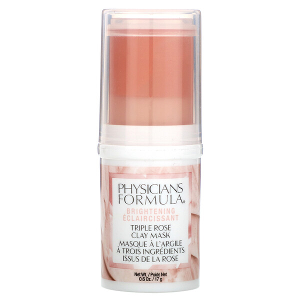 Physicians Formula, Triple Rose Clay Mask, Brightening, 0.6 oz (17 g) (Discontinued Item)