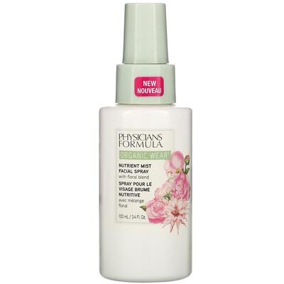 Купить Physicians Formula Organic Wear, Nutrient Mist Facial Spray, 3.4 fl oz (100 ml)