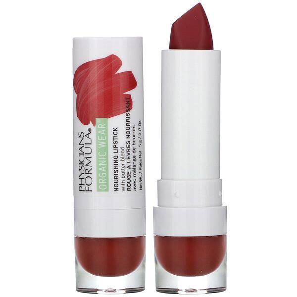 Organic Wear, Nourishing Lipstick, Spice, 0.17 oz (5 g)