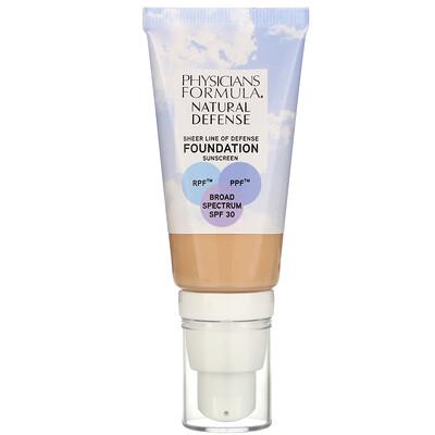 Купить Physicians Formula Natural Defense Foundation, SPF 30, Light to Medium, 1 fl oz (30 ml)