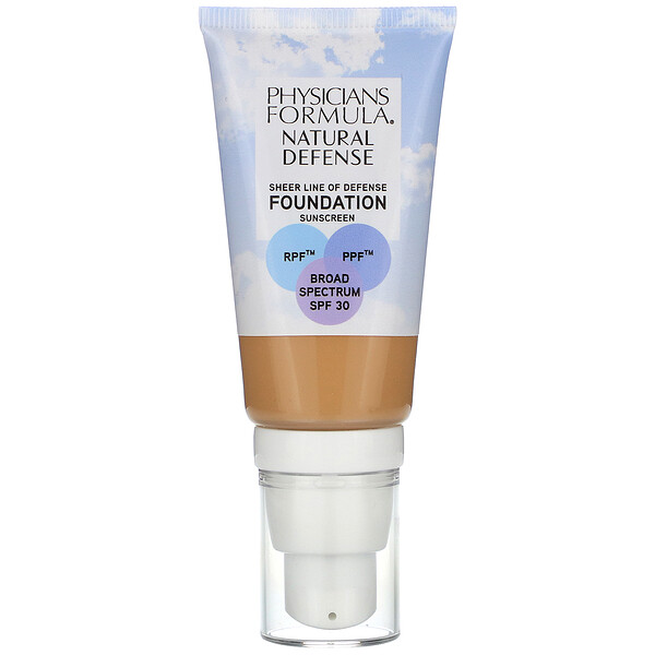 Physicians Formula, Natural Defense Foundation, SPF 30, Medium to Tan,  1 fl oz (30 ml)