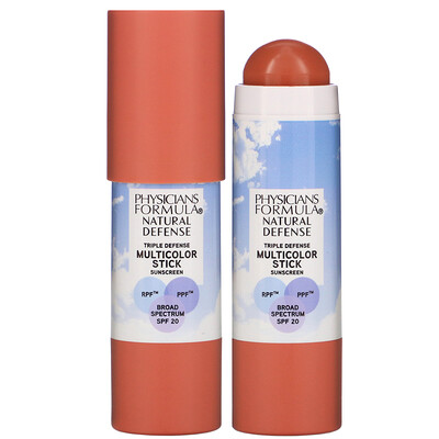 Купить Physicians Formula Natural Defense Multicolor Stick, SPF 20, Warm Coral, 0.26 oz (7.4 g)