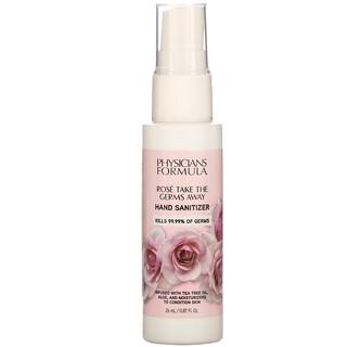 Physicians Formula, Rose Take the Germs Away,洗手液,0.87 盎司(26 毫升)