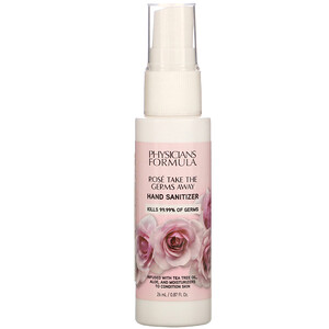 Физишэнс Формула Инк, Rose Take the Germs Away, Hand Sanitizer, 0.87 fl oz (26 ml) отзывы покупателей