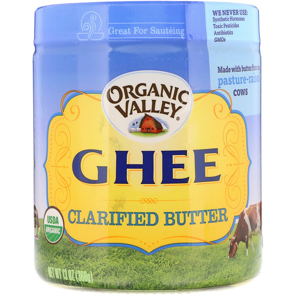Organic Valley, Organic, Ghee, Clarified Butter, 13 oz (368 g)