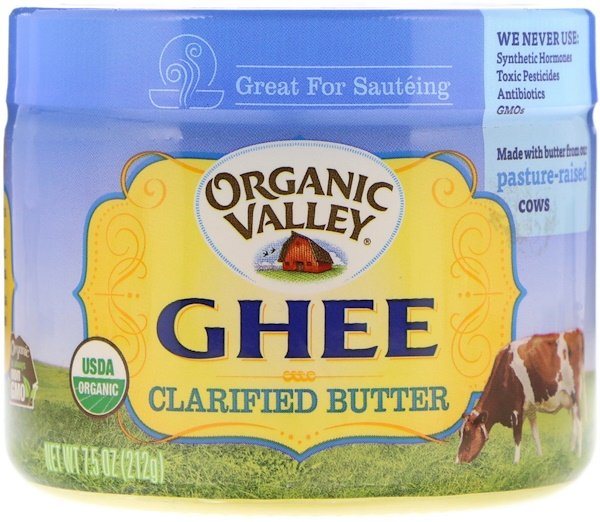 Organic Valley, Ghee Clarified Butter, 7.5 oz (212 g)