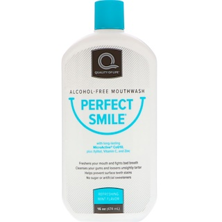 Perfect Smile, Alcohol-Free Mouthwash, Refreshing Mint Flavor, 16 oz (474 ml)
