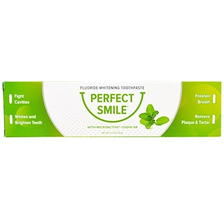 Perfect Smile, Fluoride Whitening Toothpaste With CoQ10-SR, 4.2 oz (119 g)