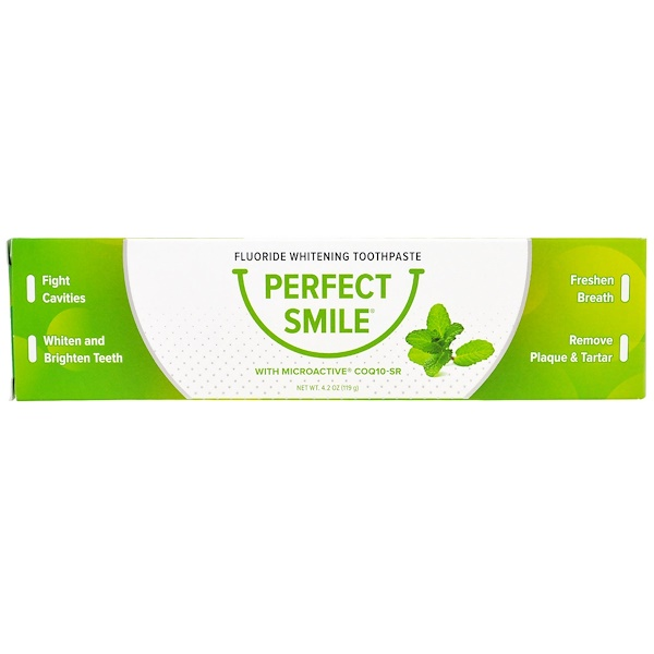 Perfect Smile, CoQ10-SR 함유 불소 미백 치약, 119g(4.2g) (Discontinued Item)