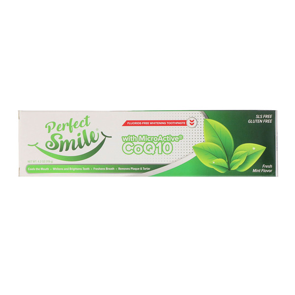 Fluoride-Free Whitening Toothpaste With MicroActive CoQ10, Fresh Mint , 4.2 oz (119 g)