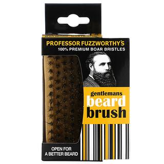 Professor Fuzzworthy's, Gentlemans Beard Brush, 100% Premium Boar Bristles, 1 Count