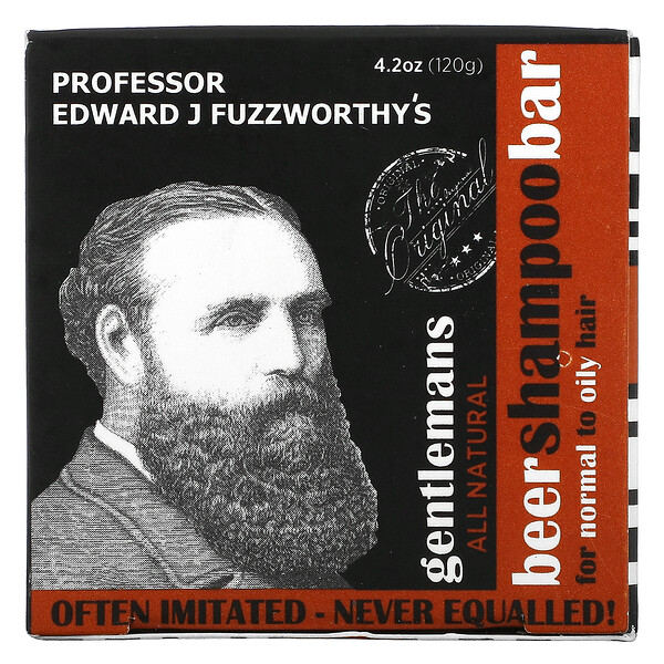 Gentlemans Beer Shampoo Bar, For Normal to Oil Hair, Unscented, 4.2 oz (120 g)