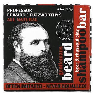 Professor Fuzzworthy's, Gentlemans Beard, Beer & Rhassoul Clay Shampoo Bar, 4.2 oz (120 g)