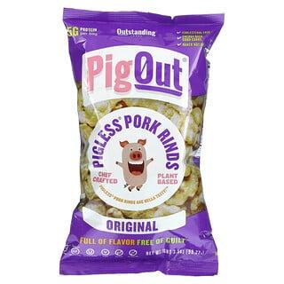 Pigout, Pigless Pork Rinds, Original, 3.5 oz (99.22 g)