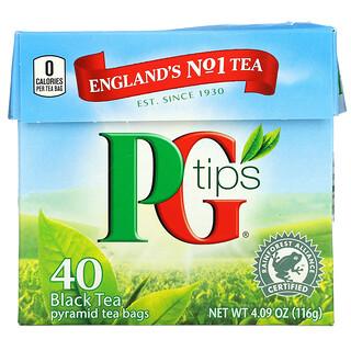 PG Tips, Black Tea, 40 Tea Bags, 4.09 oz (116 g)