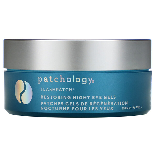 Patchology, FlashPatch Restoring Night Eye Gels, 30 Pairs (Discontinued Item)