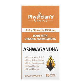 Physician's Choice, Organic Ashwagandha, 1,950 mg, 90 Veggie Capsules