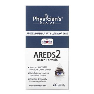 Physician's Choice, Areds2 Based Formula, 60 Veggie Capsules