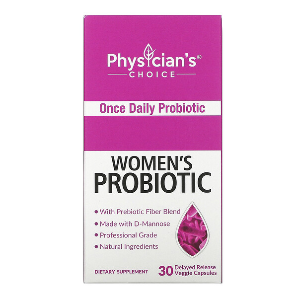 Physician's Choice, Women's Probiotic, 50 Billion CFUs, 30 Delayed Release Veggie Capsules