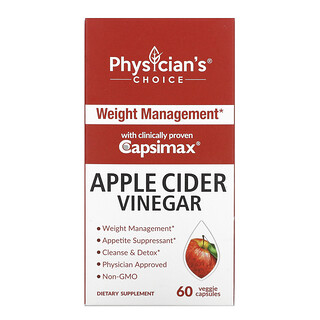 Physician's Choice, Apple Cider Vinegar, 60 Veggie Capsules
