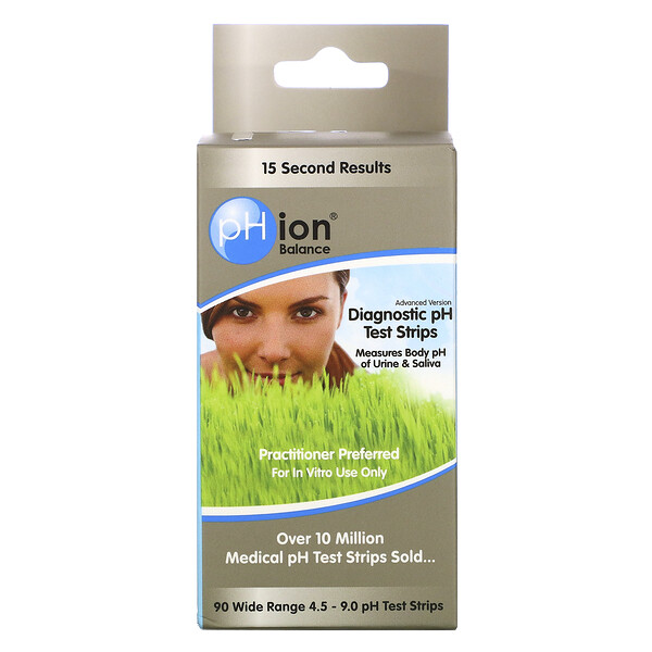 pHion Balance, Diagnostic pH Test Strips, 90 Strips
