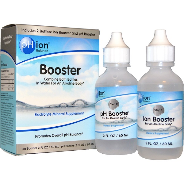 pHion Balance, Booster, Electrolyte Mineral Supplement, 2 Bottles, 2 fl oz (60 ml) Each