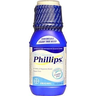 Phillip's, Echte Magnesium Milch, Salines Abführmittel, Original, 12 fl oz (355 ml)