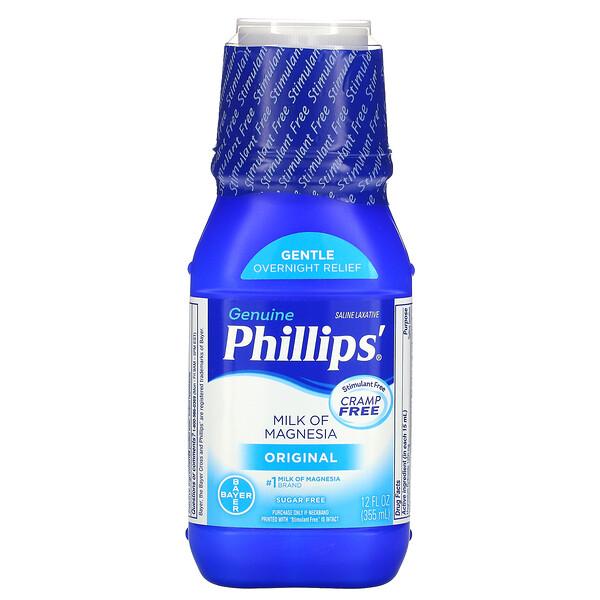 Genuine Milk of Magnesia, Saline Laxative, Original, 12 fl oz (355 ml)