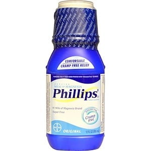 Филлипс, Genuine Milk of Magnesia, Saline Laxative, Original, 12 fl oz (355 ml) отзывы покупателей