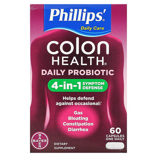 Phillip's, Colon Health Daily Probiotic, 60 Capsules