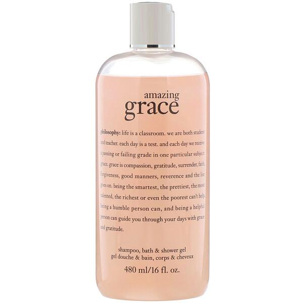 Amazing Grace, Champú y gel para ducha y baño de inmersión, 480ml (16oz.líq.)