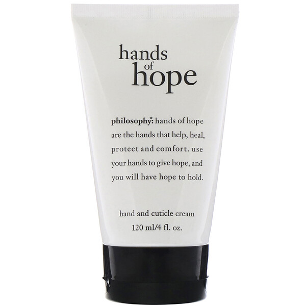Philosophy, Hands of Hope, Hand & Cuticle Cream, 4 fl oz (120 ml)