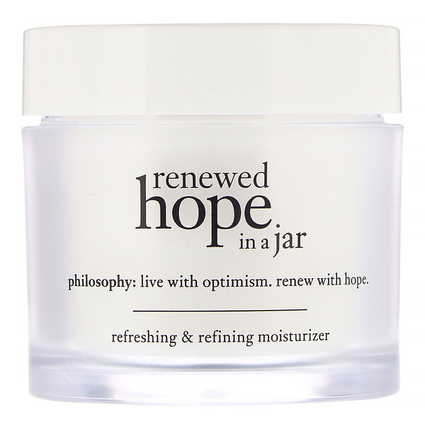 "Philosophy, Renewed Hope in a Jar, קרם לחות מעדן ומרענן, 60 מ""ל (2 אונקיות נוזליות) (Discontinued Item)"