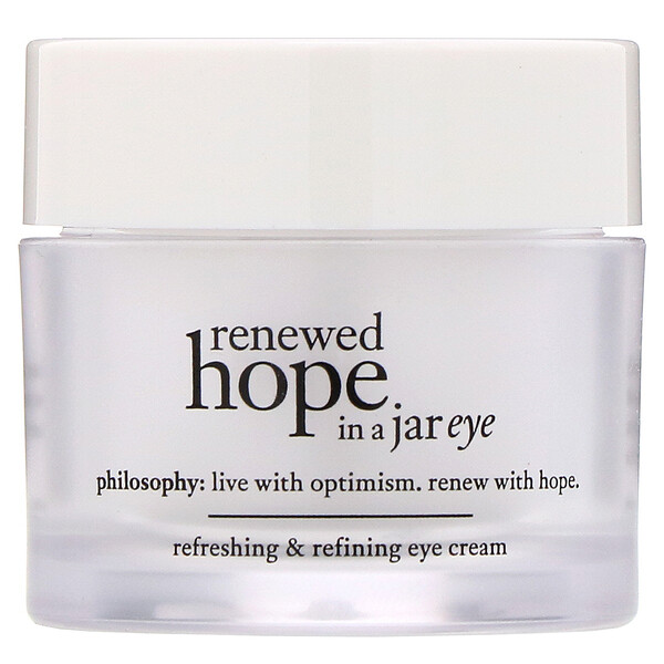 Philosophy, Renewed Hope in a Jar, Refreshing & Refining Eye Cream, 0.5 fl oz (15 ml) (Discontinued Item)