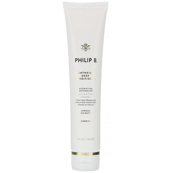 Philip B, Lightweight Deep Conditioner, African Shea Butter, 6 fl oz (178 ml) (Discontinued Item)