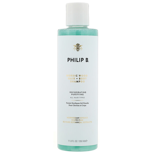 Philip B, Hair + Body Shampoo, Nordic Wood, 11.8 fl oz (350 ml) (Discontinued Item)