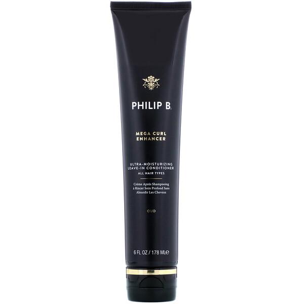 Philip B, Mega-Curl Enhancer, Oud, 6 fl oz (178 ml) (Discontinued Item)