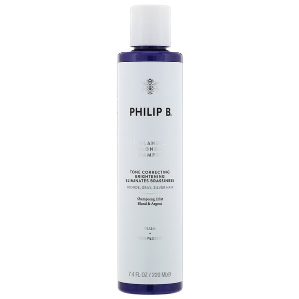 Philip B, Icelandic Blonde Shampoo, Plum + Grapeseed, 7.4 fl oz (220 ml) (Discontinued Item)