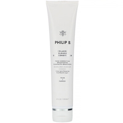 Philip B Icelandic Blonde Deep Conditioner, Plum + Grapeseed, 6 fl oz (178 ml)