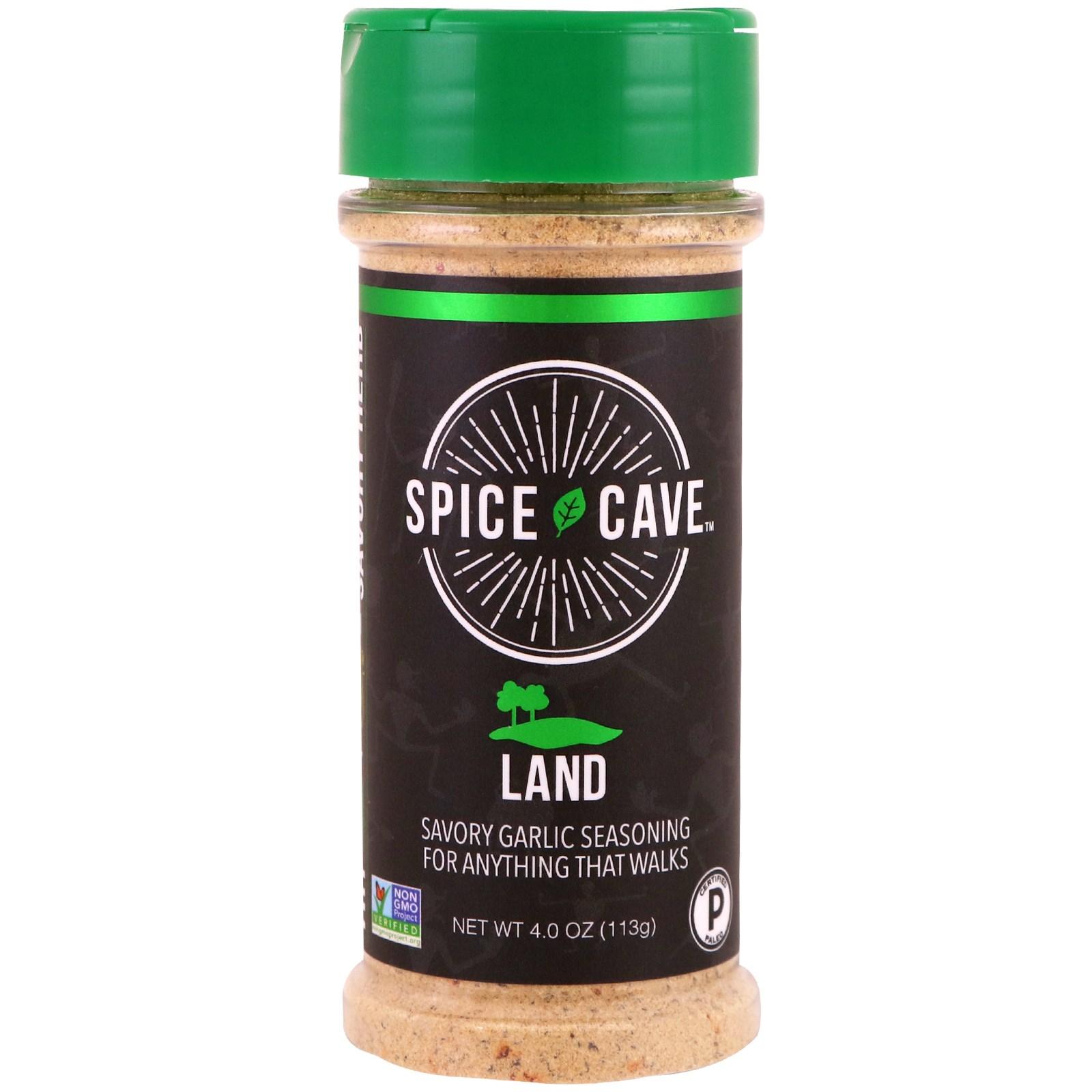 Spice Cave, Land, острая чесночная приправа, 4.0 унции (113 г)